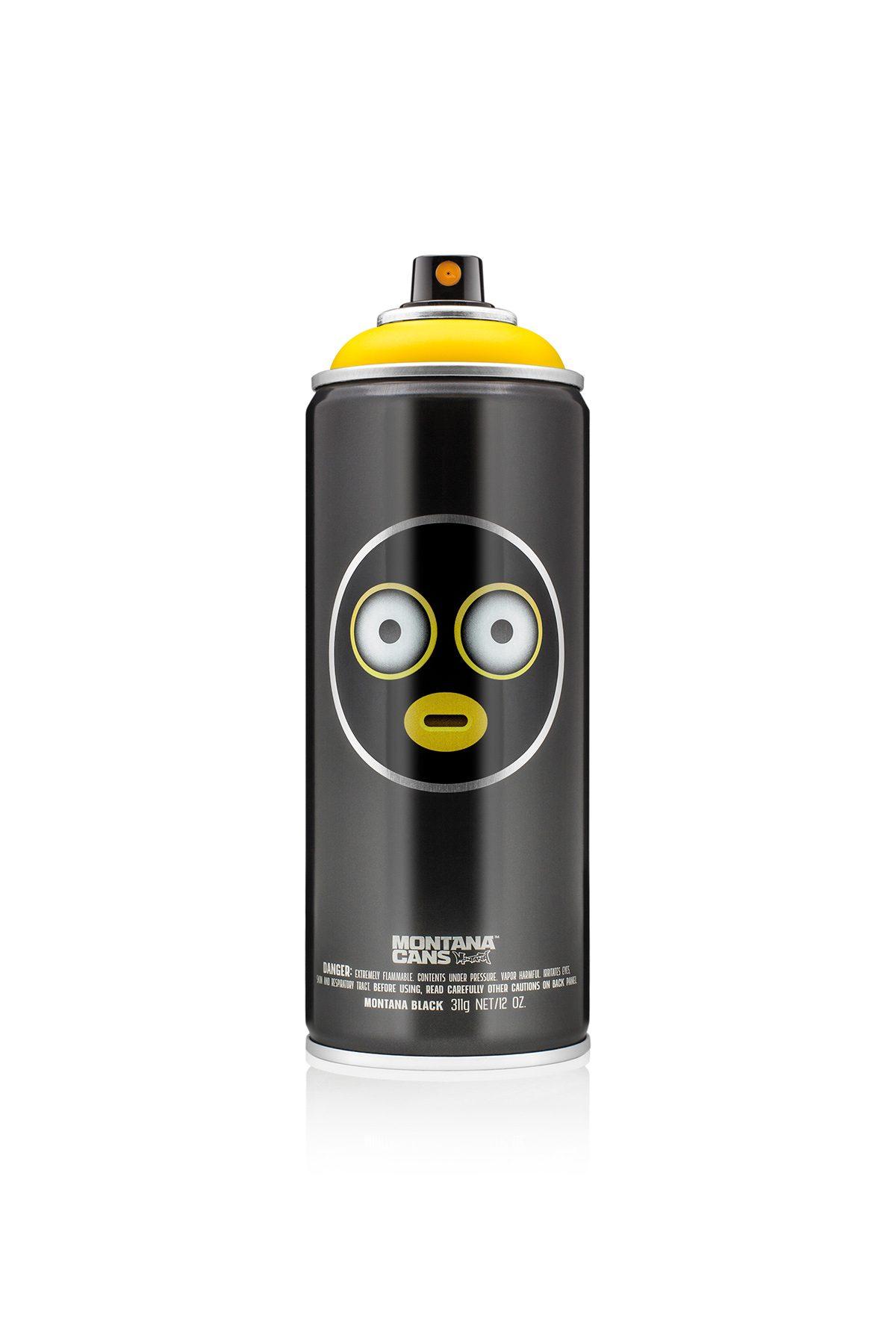 Montana BLACK #EMOJIVANDALS - Kicking Yellow - Limited Edition 400ml