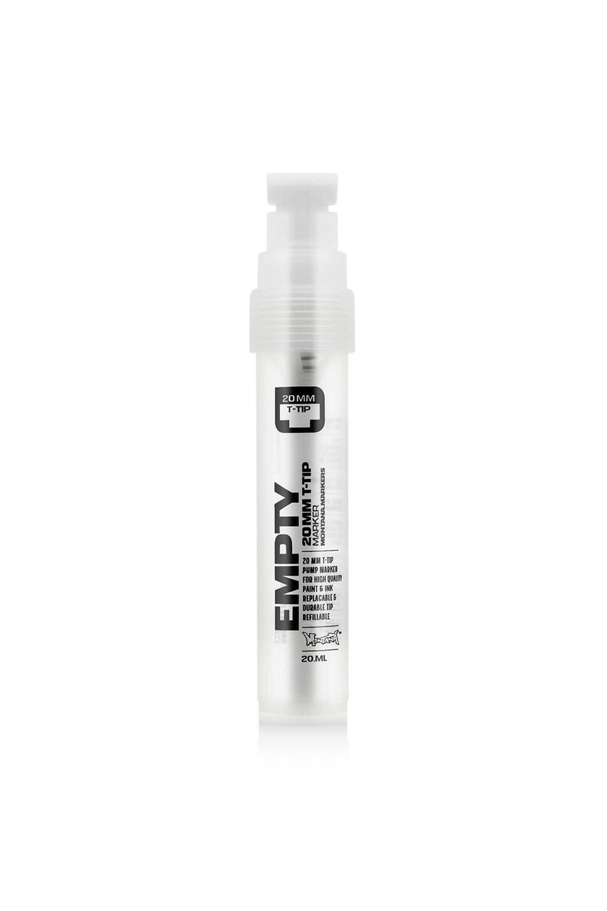 Montana BLACK EMPTY T-TIP Marker 20mm/20ml