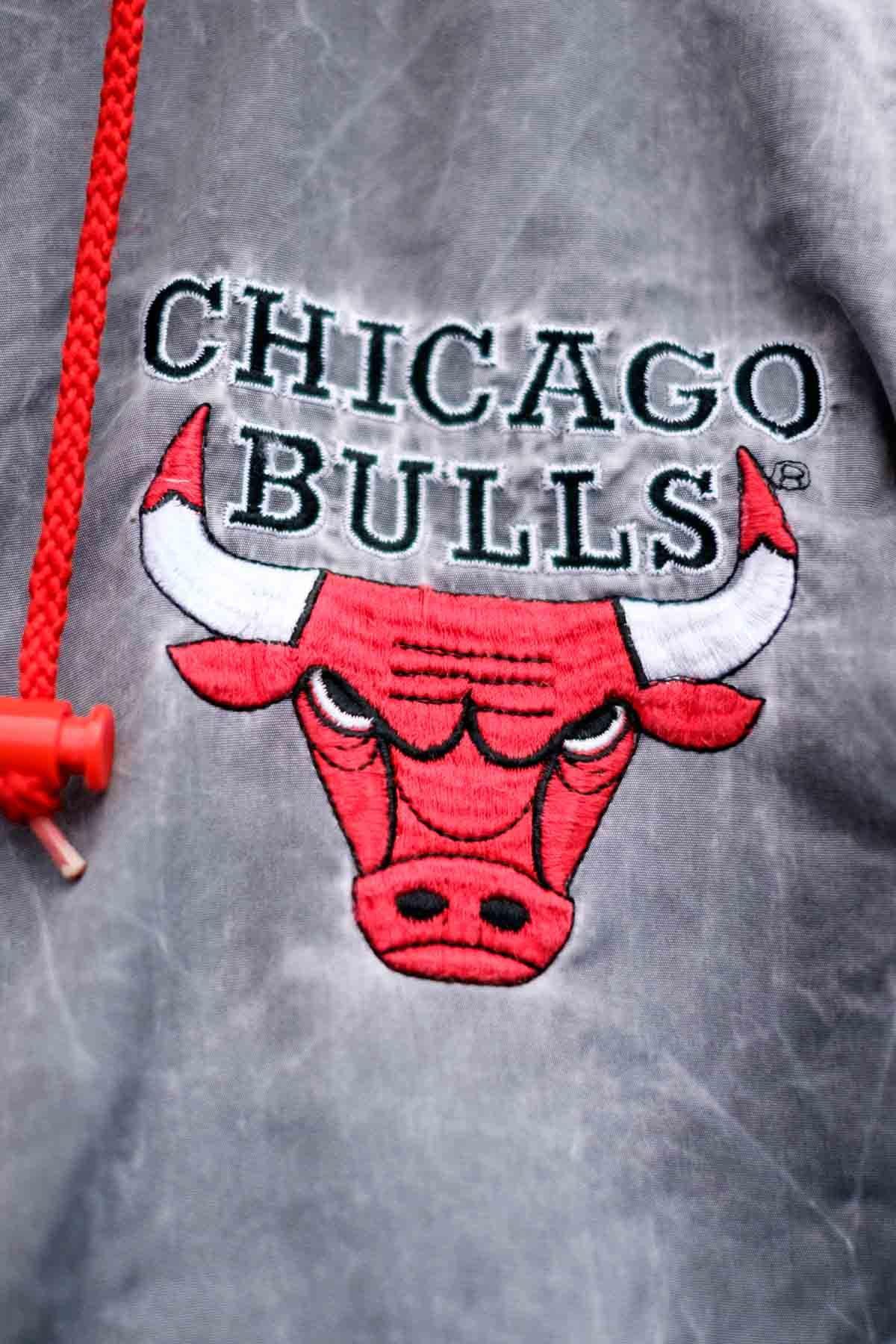 Chicago Bulls GIUBBOTTO VINTAGE Grigio-Rosso