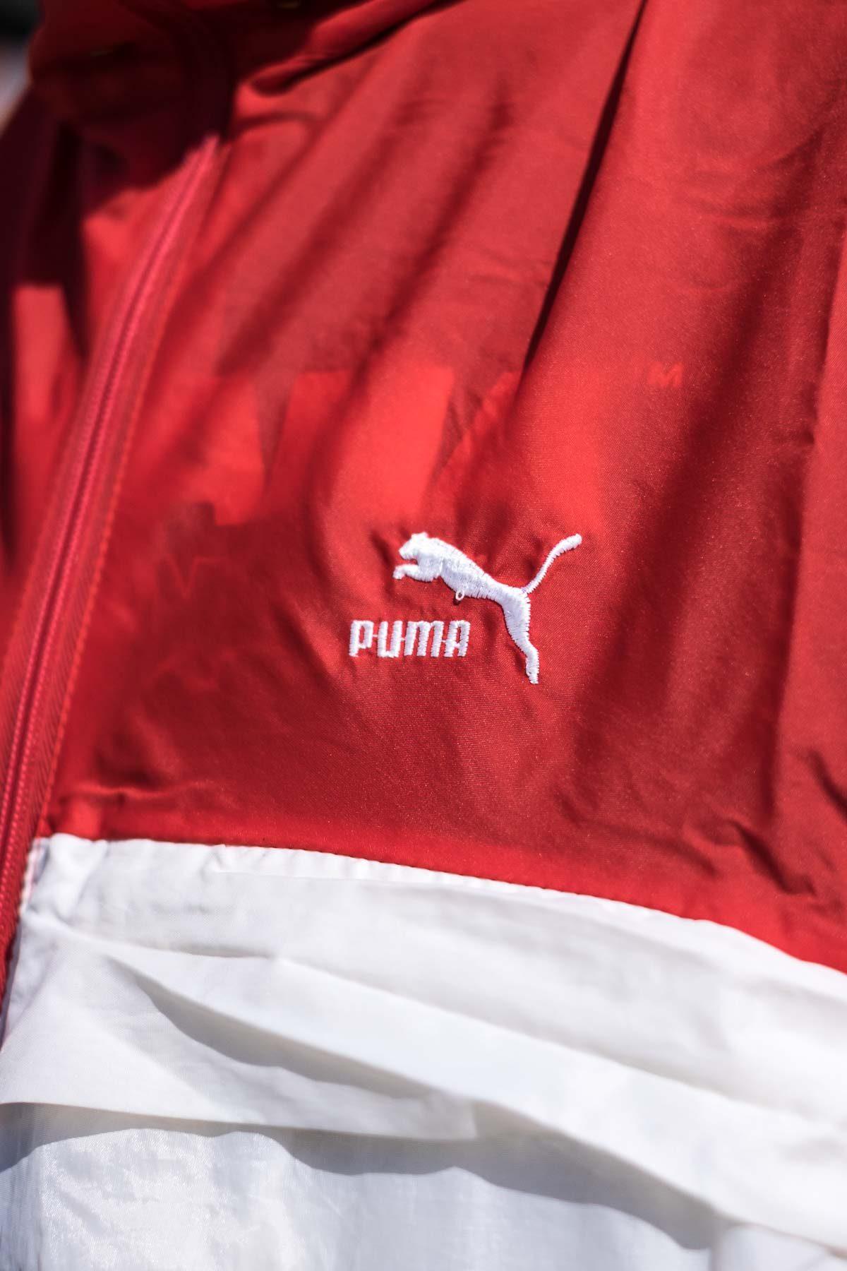 Puma GIACCA A VENTO VINTAGE 90S Rosso-Bianco