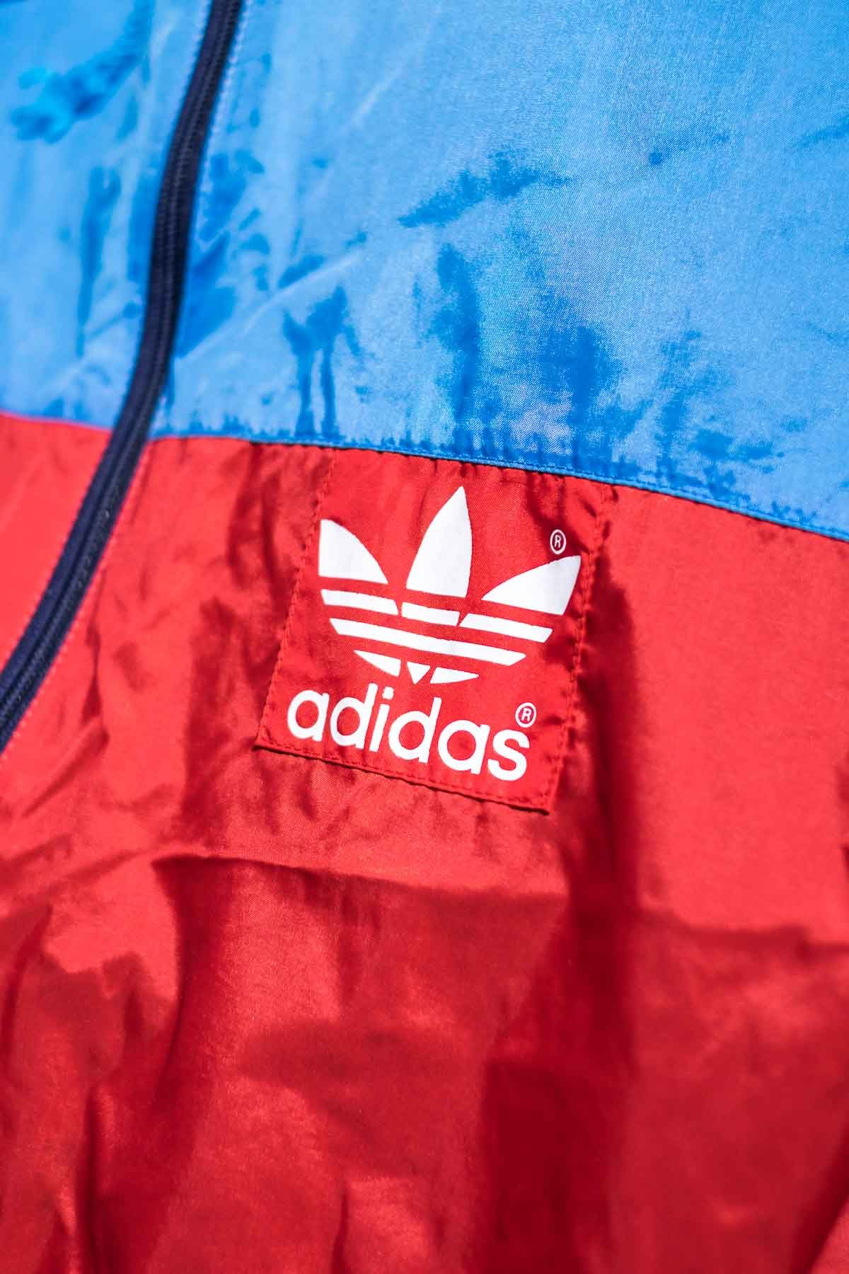 Adidas GIACCA A VENTO VINTAGE 90S Azzurro-Rosso