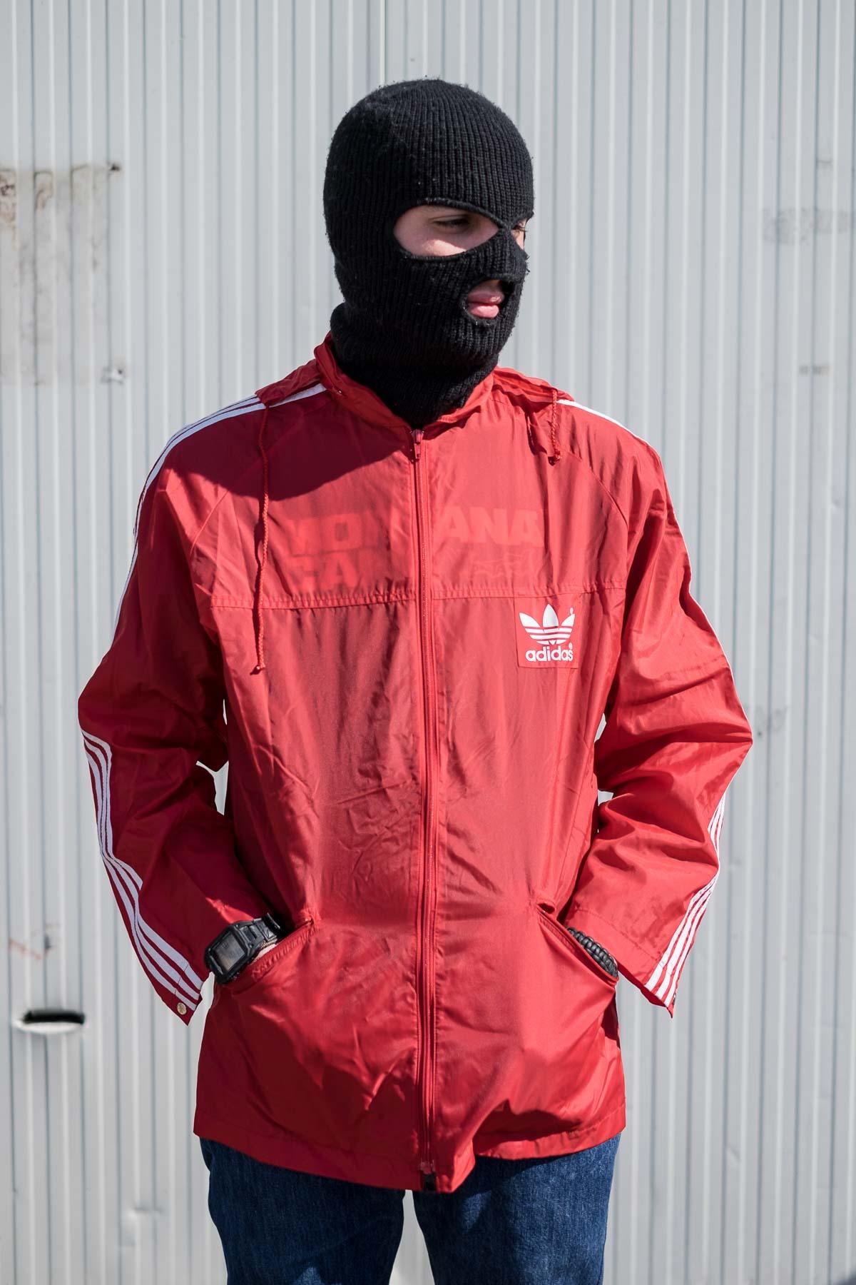 90s Adidas Vento A Giacca Vintage Hard2buff Rosso wxxfBIqpEr 33878d103a13