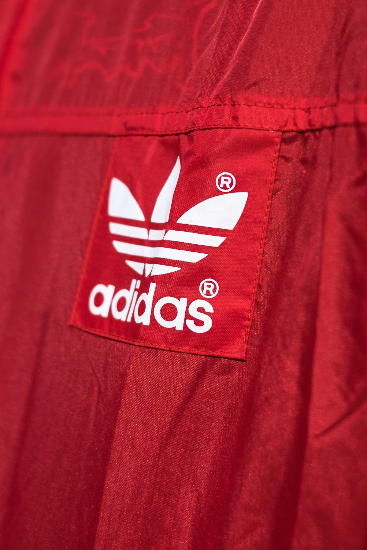 Adidas GIACCA A VENTO VINTAGE 90S Rosso