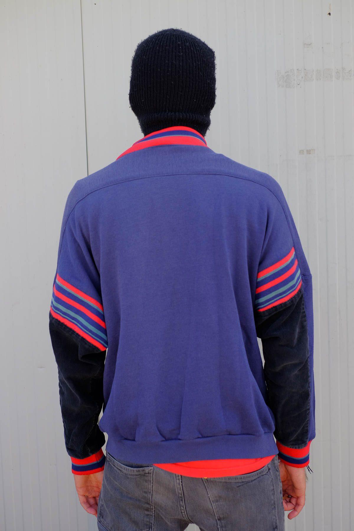 Adidas CARDIGAN VINTAGE Rosso-Blue