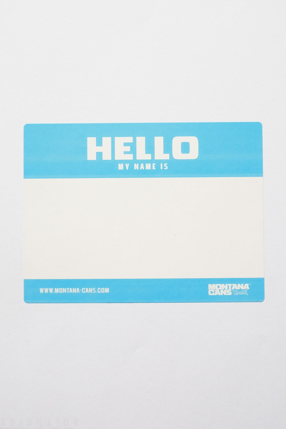 Montana HELLO MY NAME IS x50 Stickers