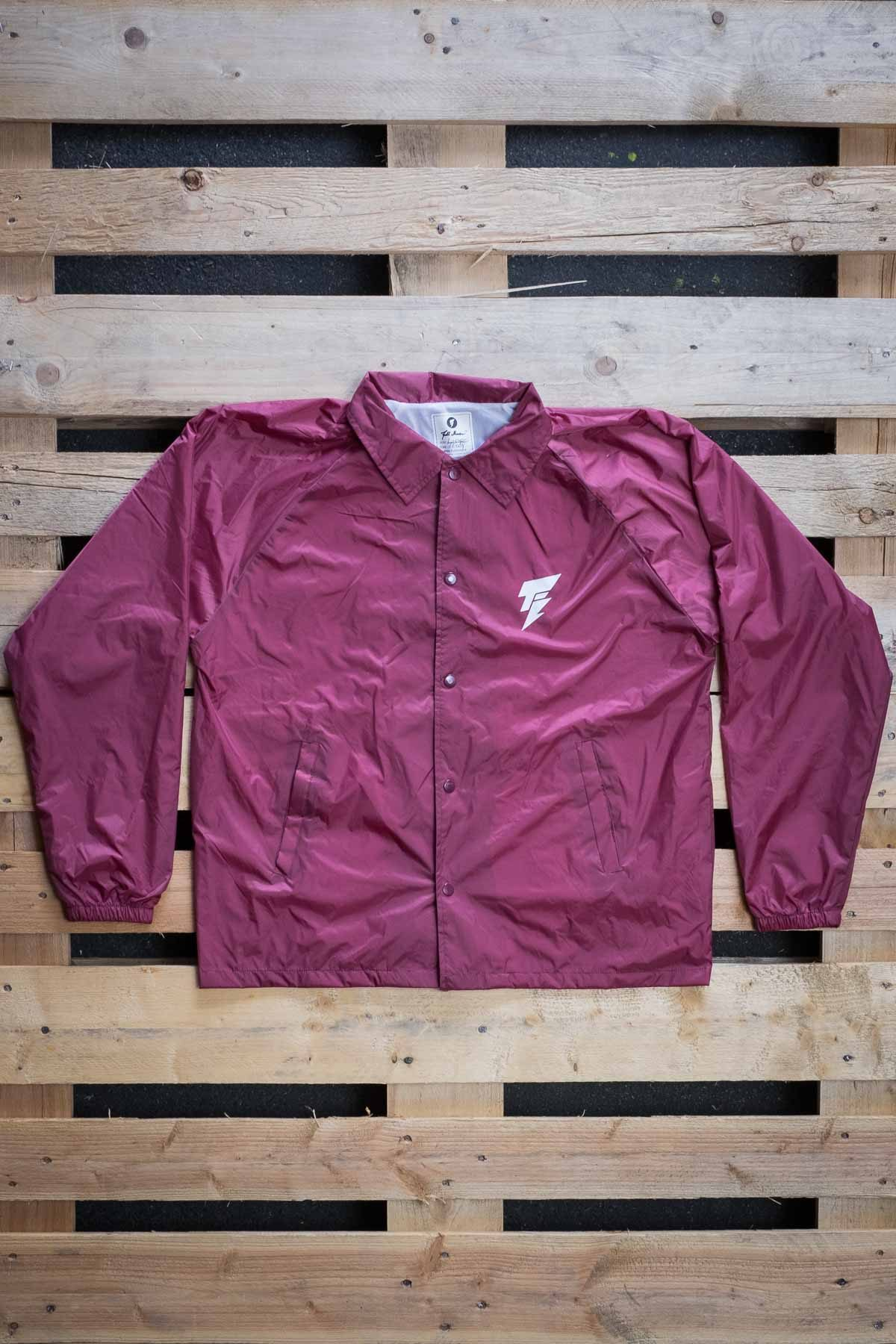 Full Mine Coach Jacket Burgundy