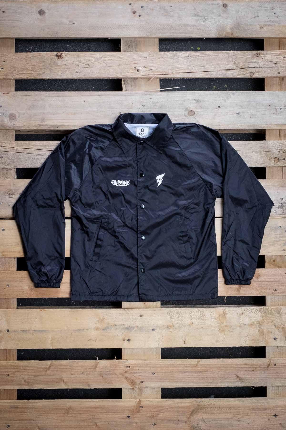 Full Mine Coach Jacket Black Double Logo