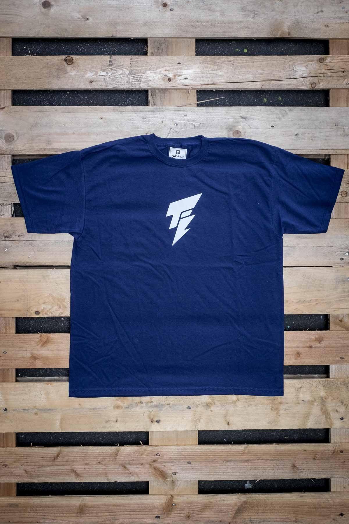 Full Mine Classic Tee Blue Front Typo Logo