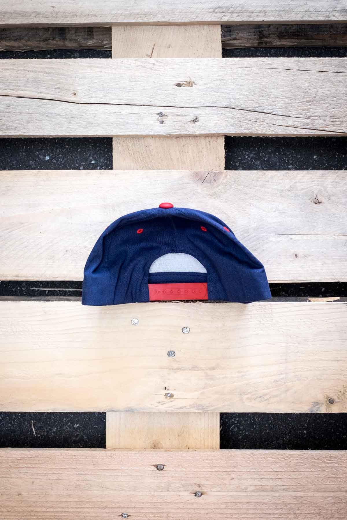 Full Mine Classic Snapback Blue and Red Logo Small
