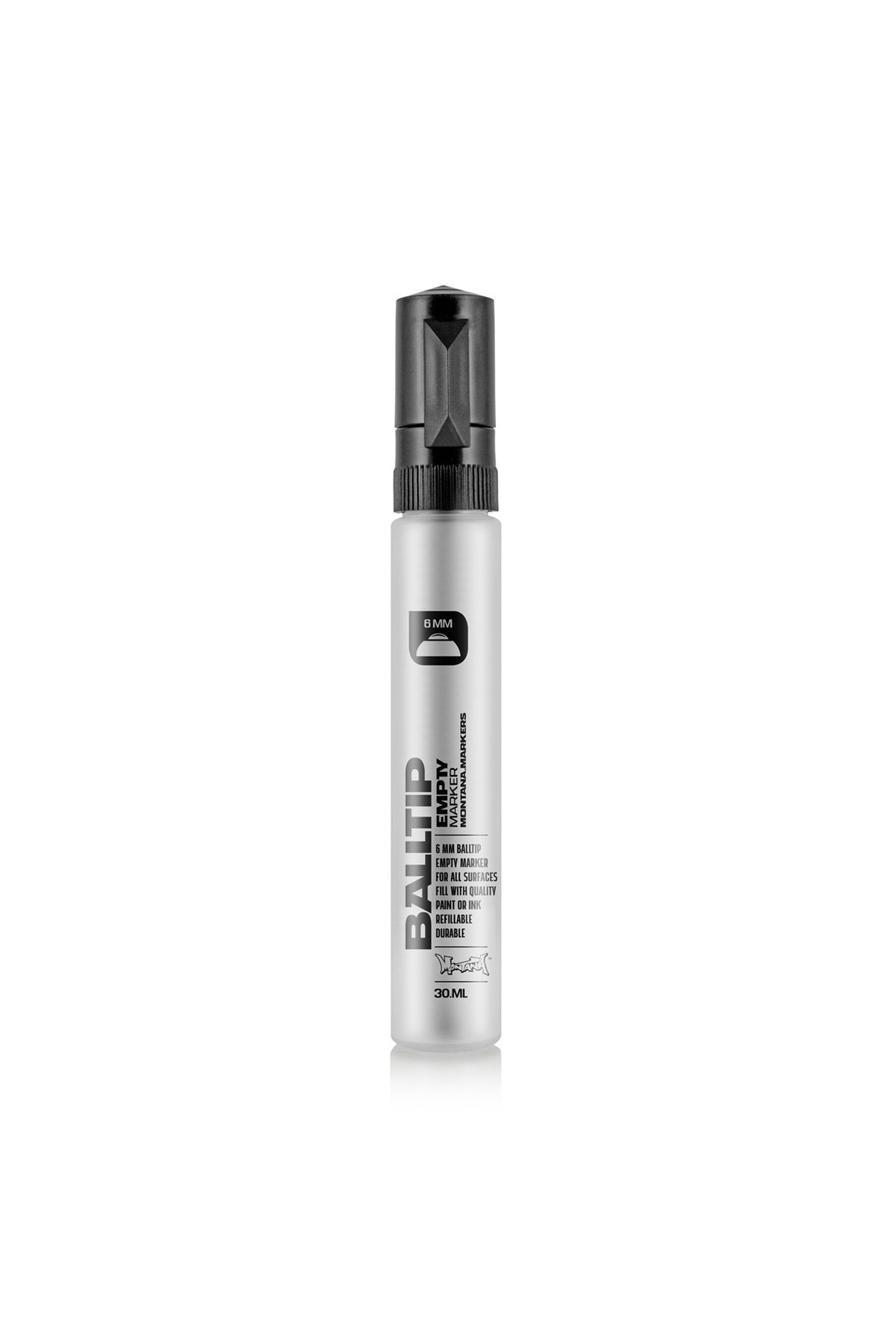 Montana BLACK EMPTY BALLTIP Marker 6mm/30ml