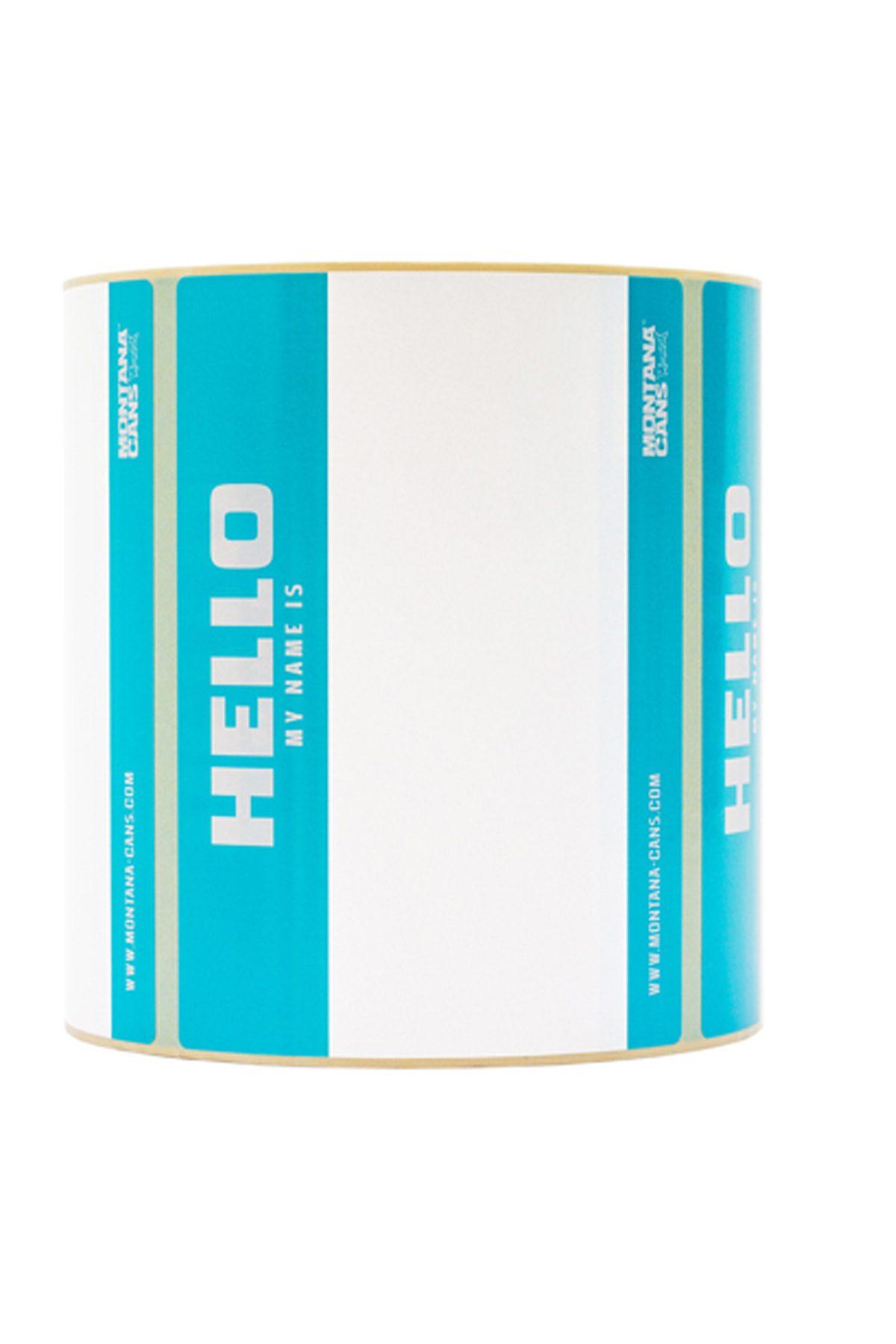 Montana HELLO MY NAME IS Rotolo x500 Stickers