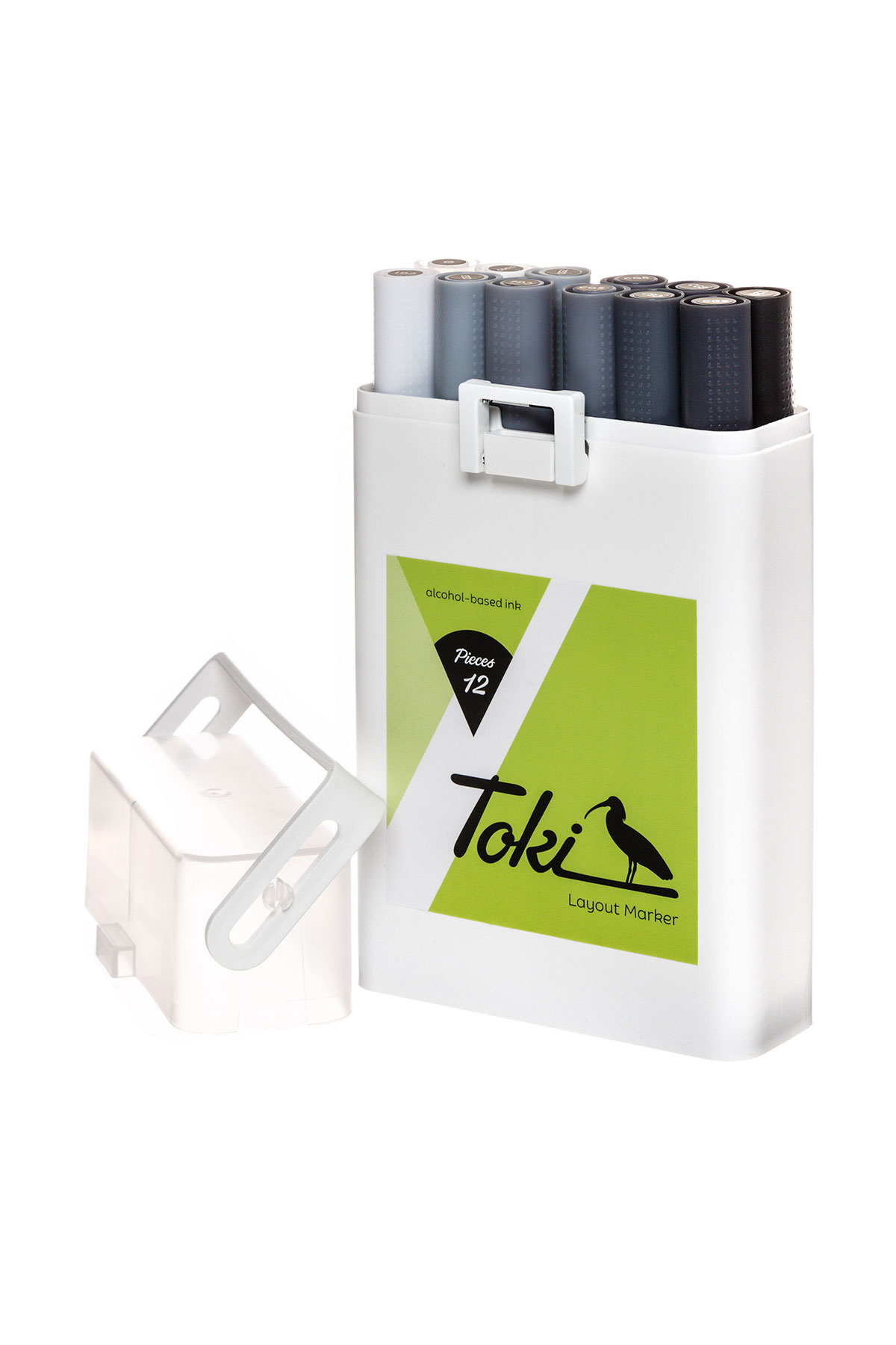 Toki LAYOUTMARKER 12 Set Grey
