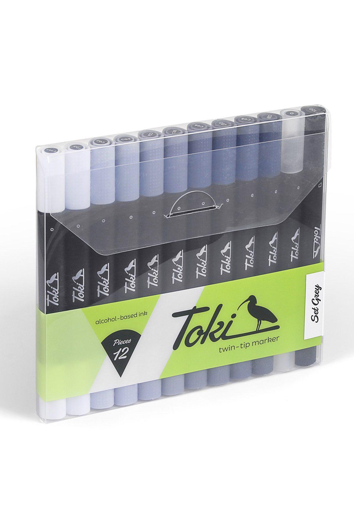 Toki LAYOUTMARKER 12 Set Grey