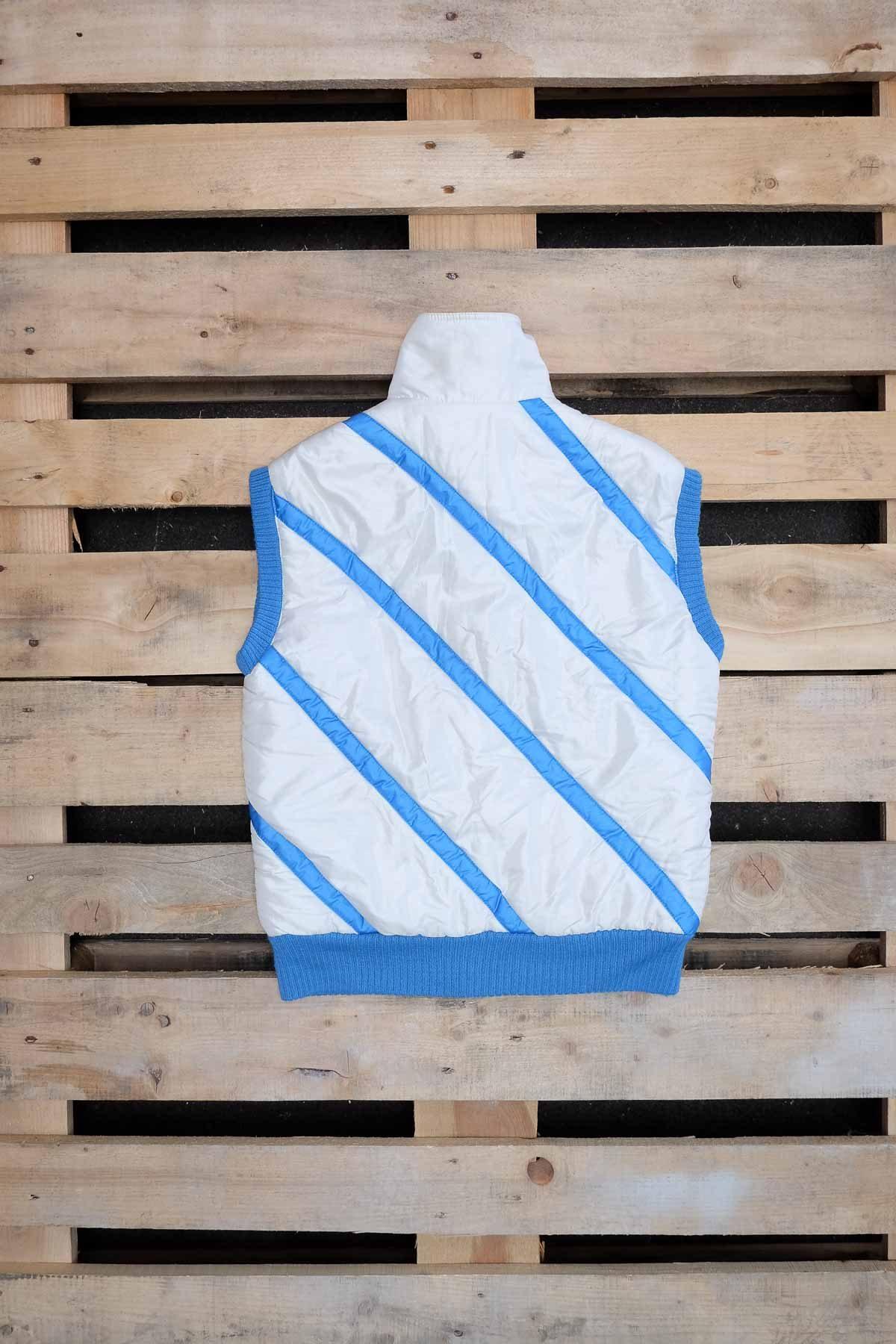 Ellesse SMANICATO VINTAGE Bianco-Azzurro M