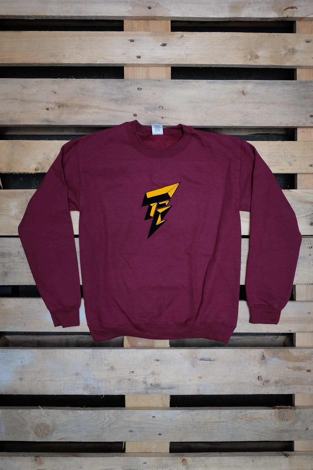 Full Mine FELPA GIROCOLLO Logo Bordeaux