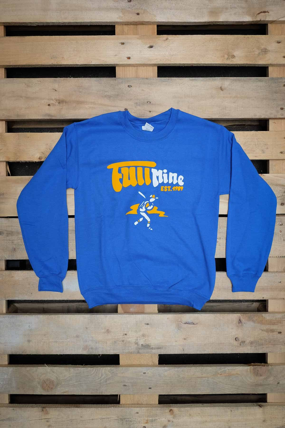 Full Mine FELPA GIROCOLLO Est.1989 Blue