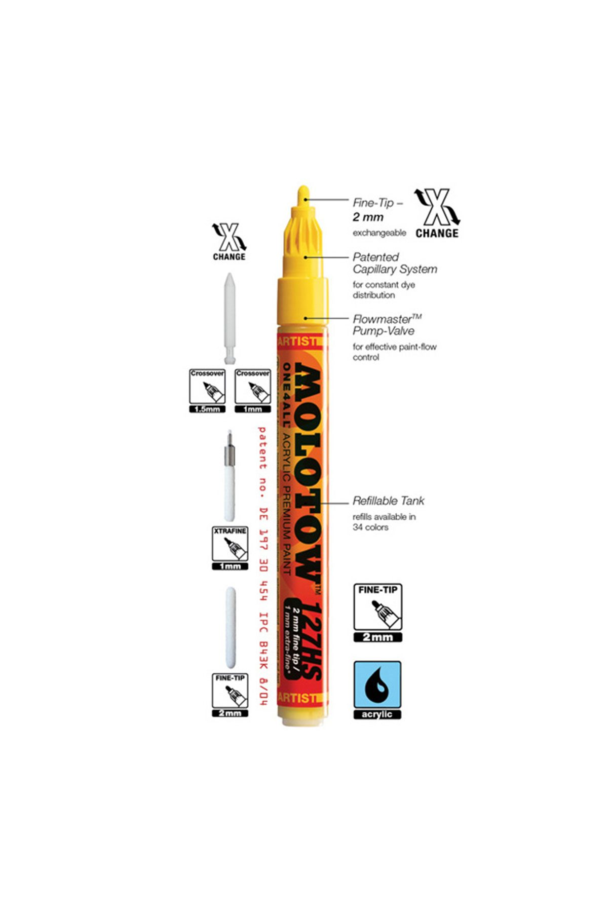 Molotow One4All Fine Tip 2mm