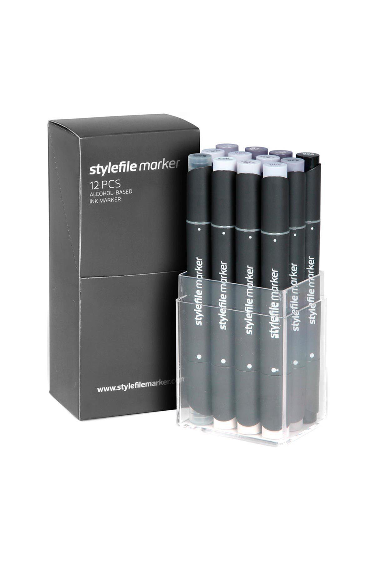 STYLEFILE MARKER 12 Cool Grey Set