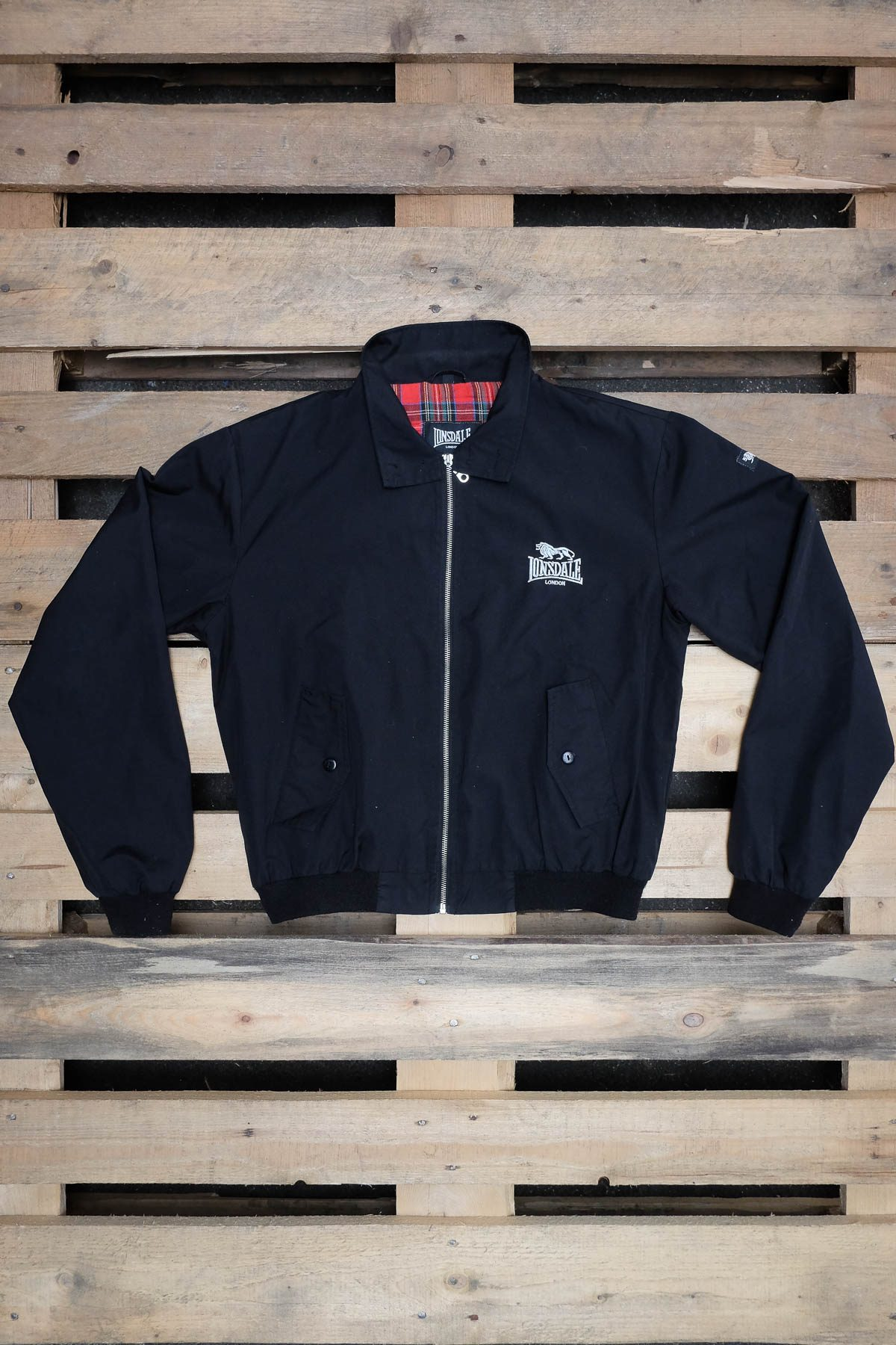 Lonsdale GIACCA HARRINGTON Black