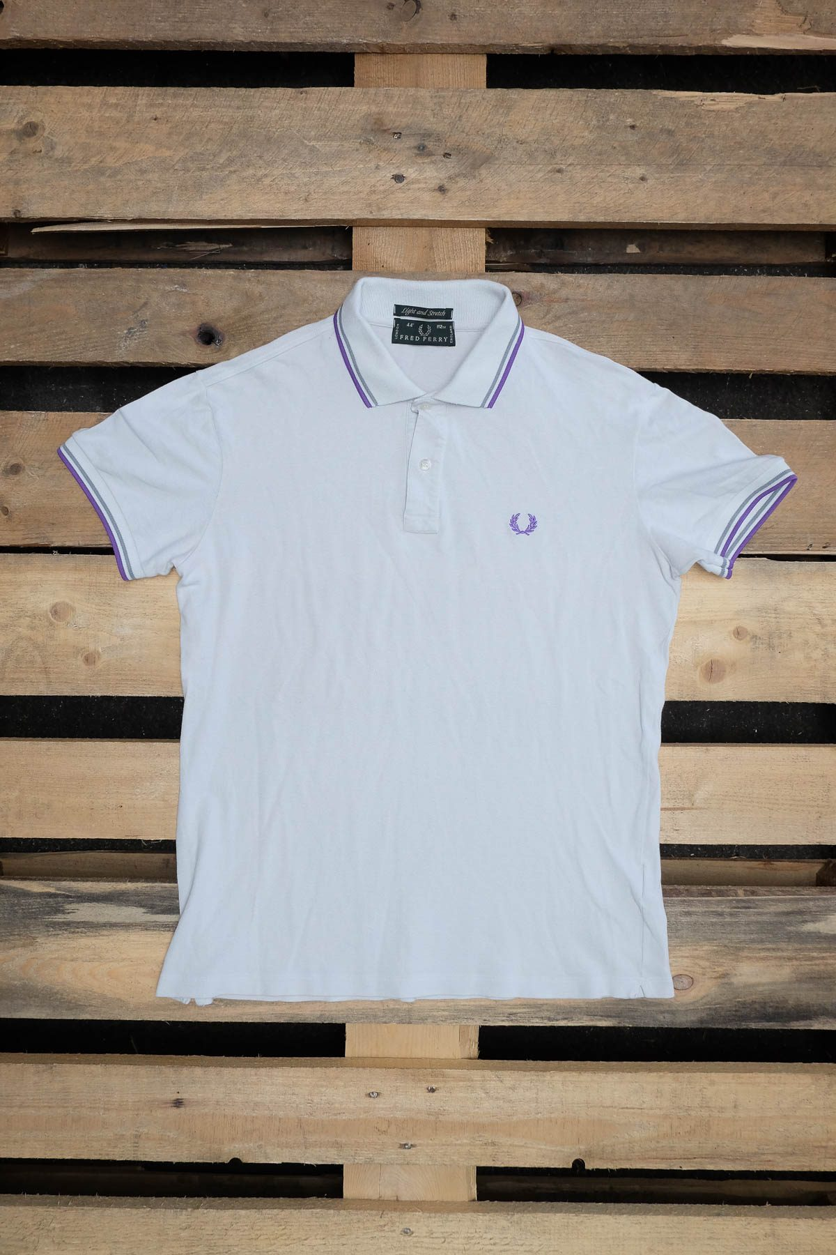 Fred Perry T-SHIRT POLO VINTAGE Ice Grey