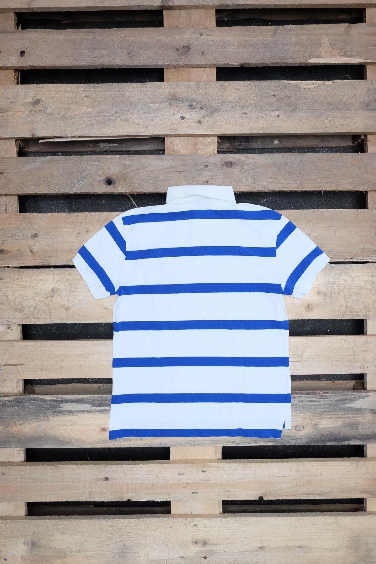 Ralph Lauren T-SHIRT POLO VINTAGE White-Blue