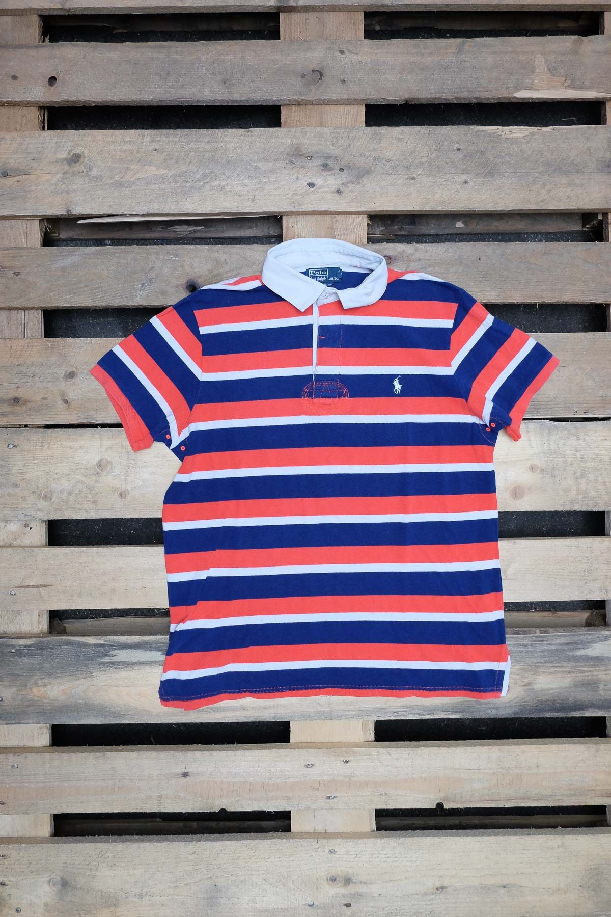 Ralph Lauren T-SHIRT POLO VINTAGE Red-Blue