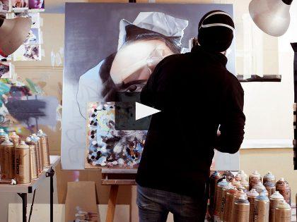 AKUT – Fotorealismo su tela – Visita al suo studio con Montana Cans (Video)