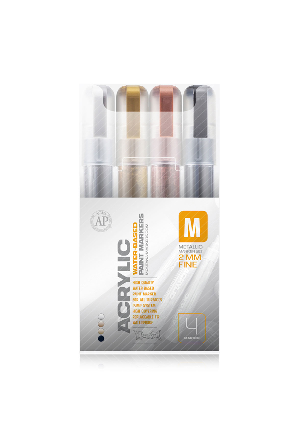 Montana ACRYLIC MARKER SET METALLIC 2mm