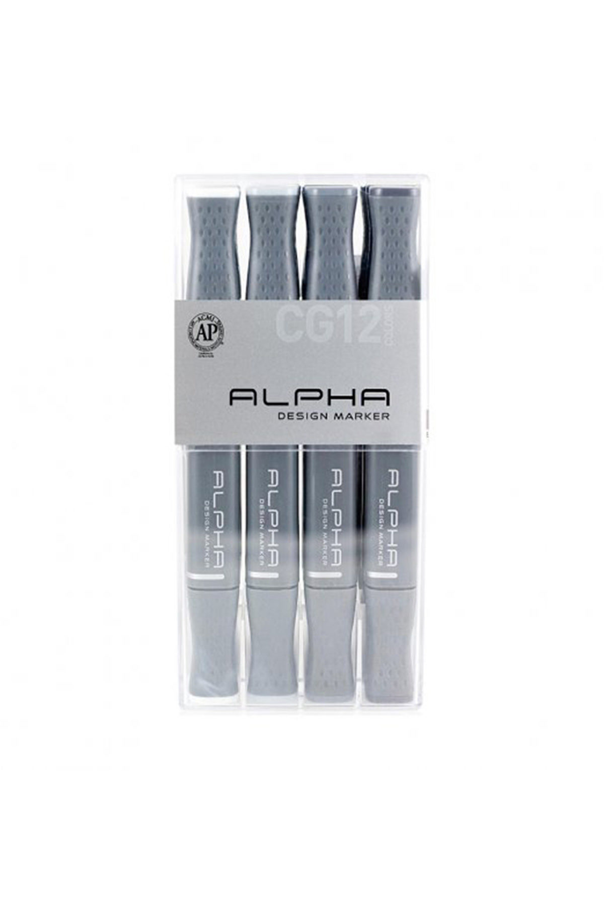 ALPHA MARKER Cool Grey 12er Set