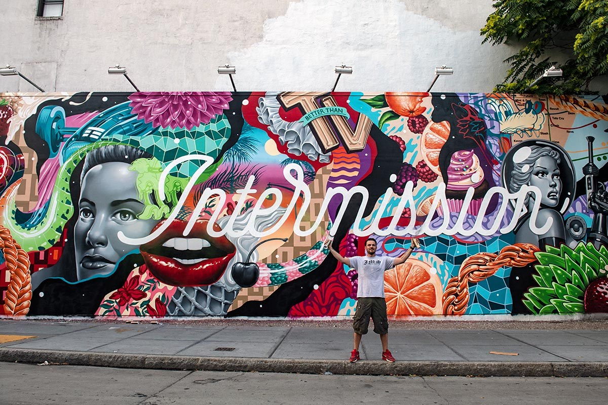 "TRISTAN EATON - ""Intermission"", l'ultimo lavoro sul Bovery Wall a New York"