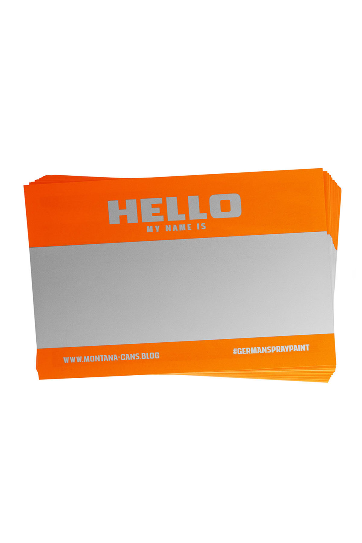 Montana HELLO MY NAME IS NEON Sticker