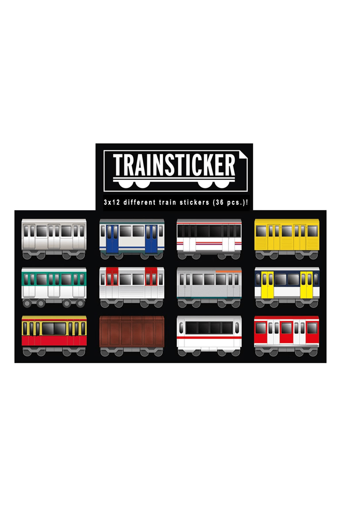Trainsticker UNDERPRESSURE A7 Set Sticker x36