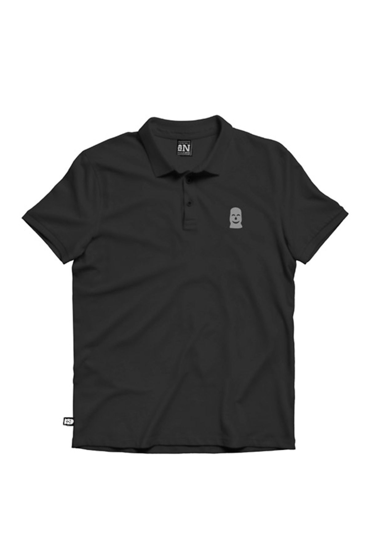 Vandals On Holidays GREY MASK POLO Black T-Shirt