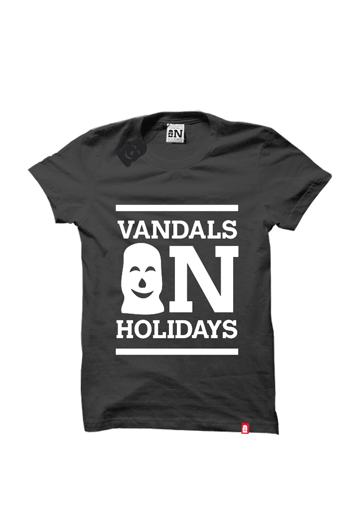 Vandals On Holidays CLASSIC LOGO Dark Grey T-Shirt