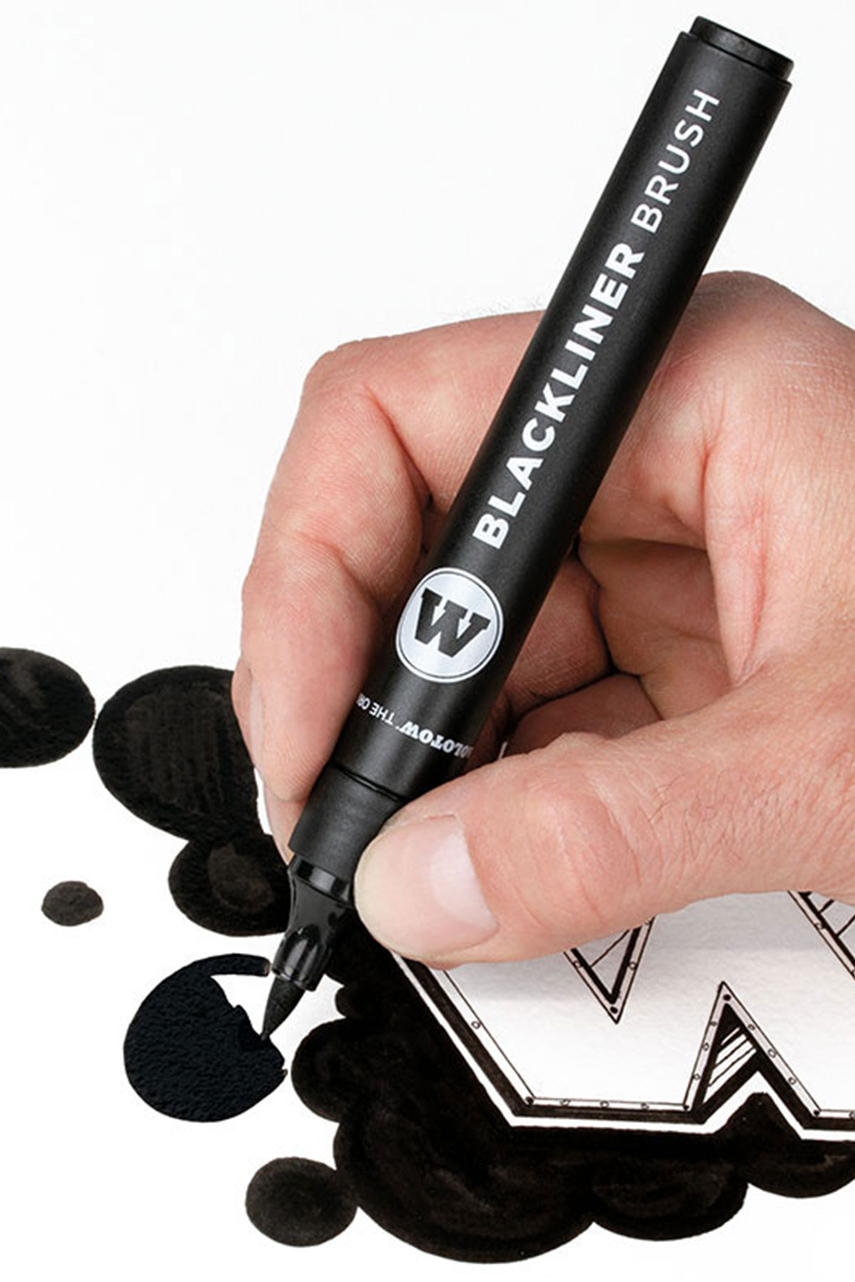 Molotow AQUA BLACKLINER Brush Marker