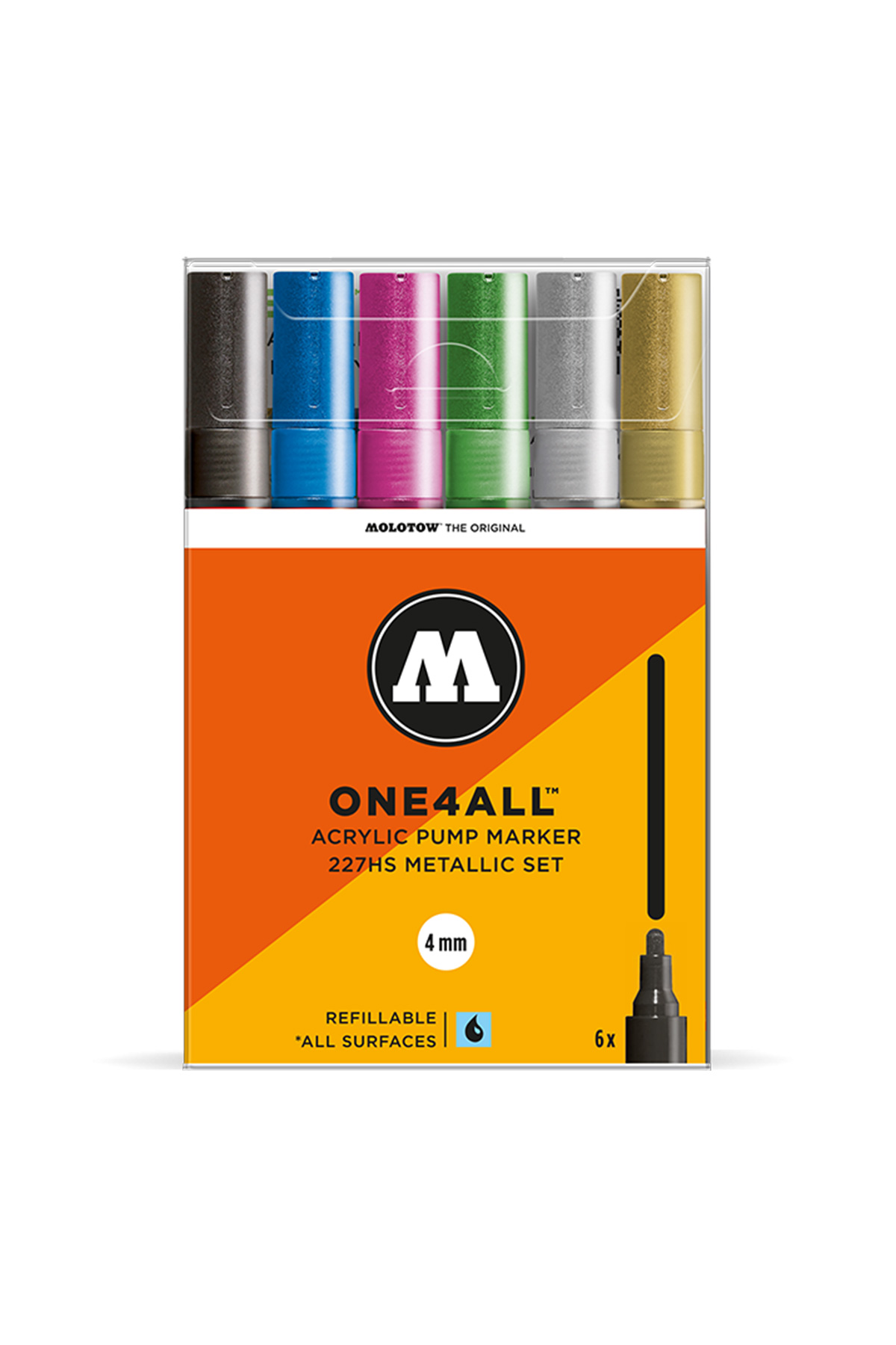 Molotow ONE4ALL 227HS MARKER Metallic Set 4mm