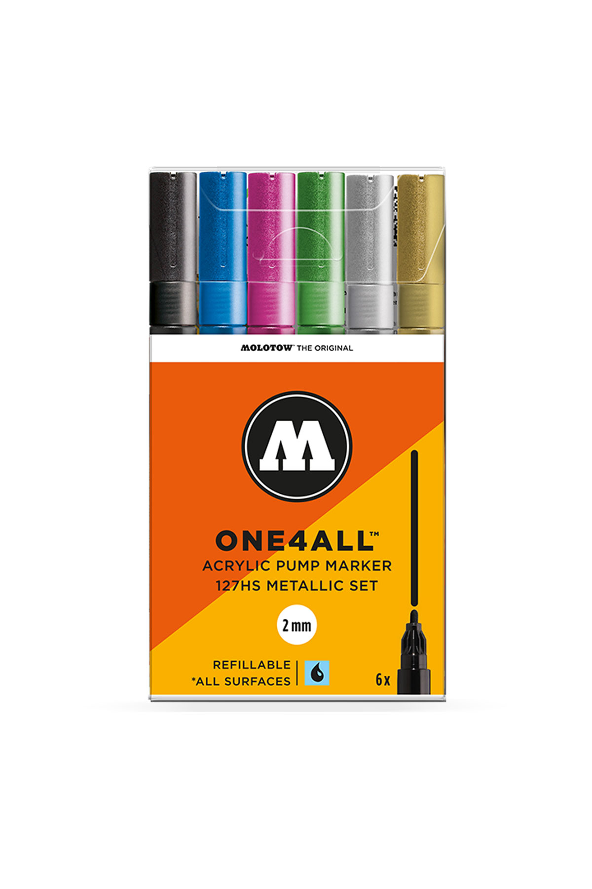 Molotow ONE4ALL-127HS MARKER Metallic Set