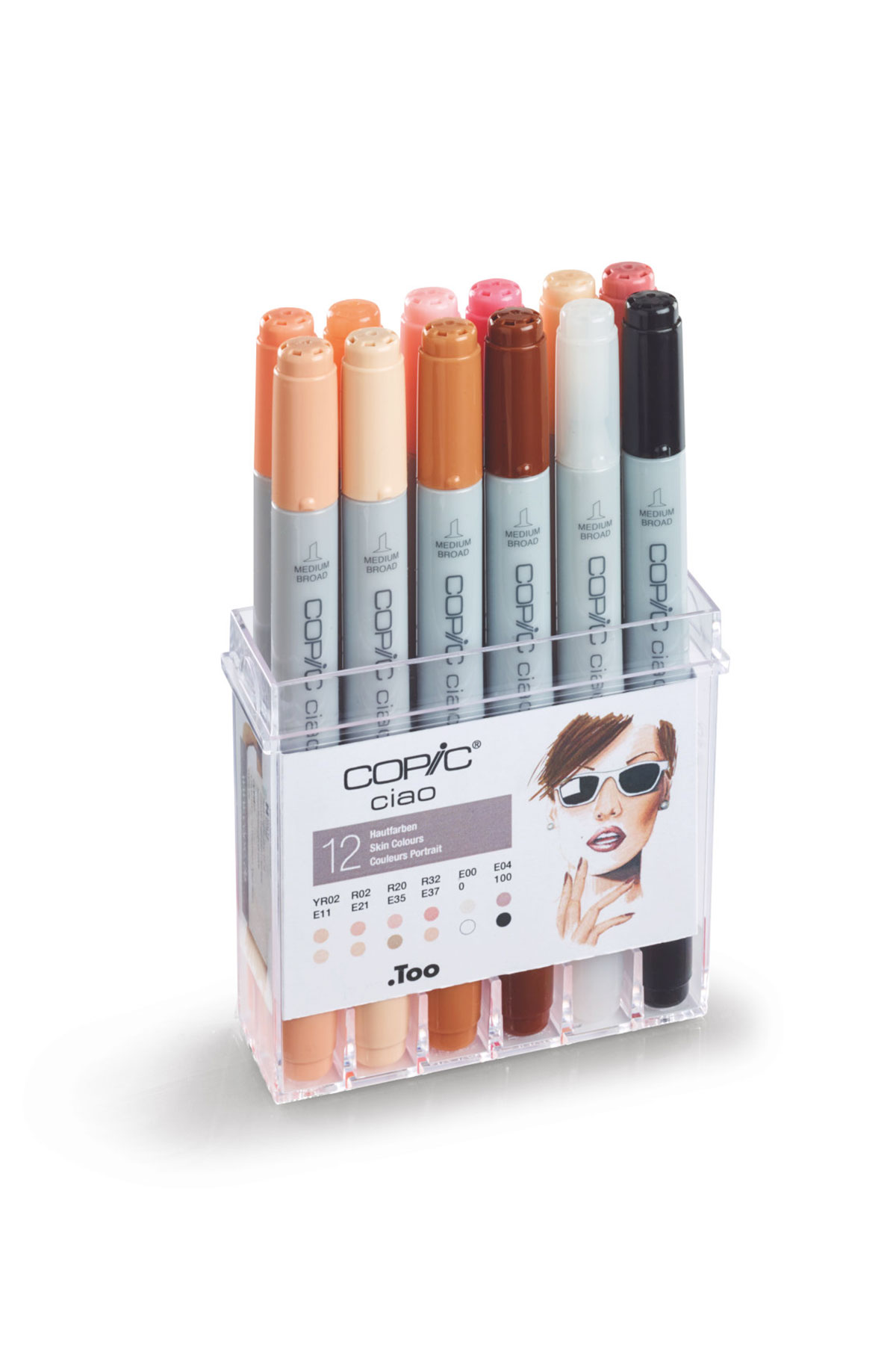 Copic CIAO MARKER 12 Skin Colour Set