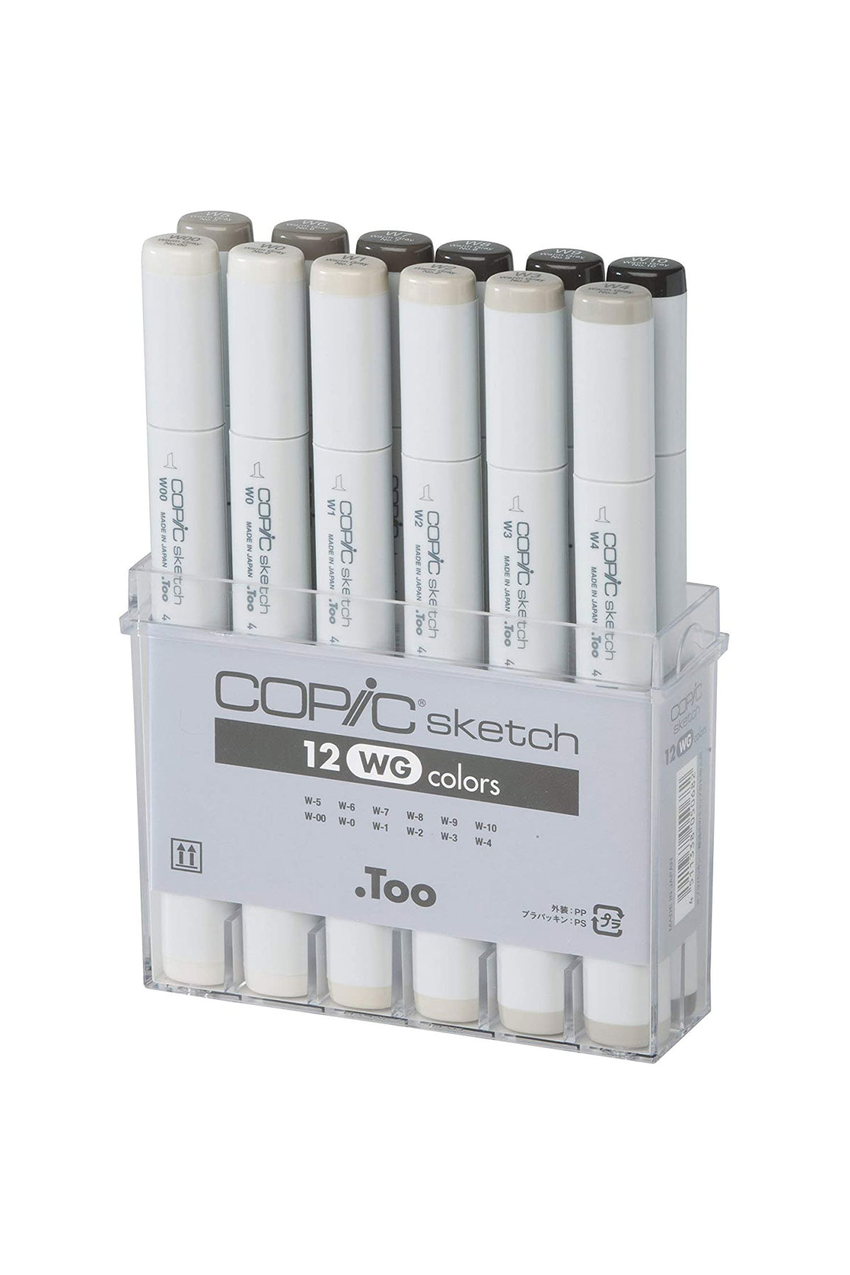Copic SKETCH MARKER 12 Warm Gray Set